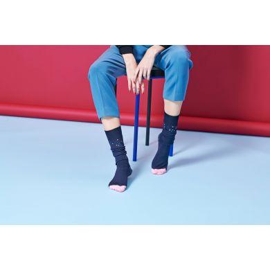 Dámské tmavě modré podkolenky Happy Socks Madda // kolekce Hysteria