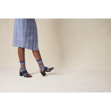 Dámské hnědo-modré ponožky Happy Socks Myggan // kolekce Hysteria
