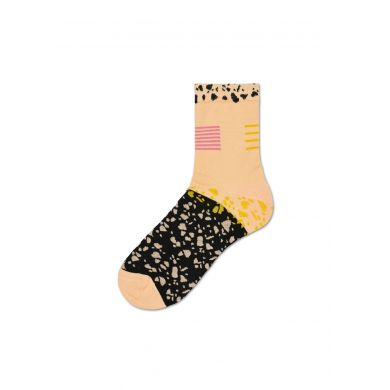 Dámské béžovo-černé ponožky Happy Socks Ruby // kolekce Hysteria