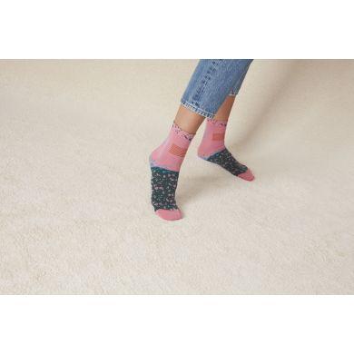 Dámské růžovo-zelené ponožky Happy Socks Ruby // kolekce Hysteria