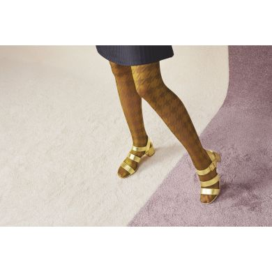 Dámské žluto-hnědé punčochy Happy Socks Sophia // kolekce Hysteria