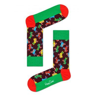 Barevné ponožky s králíčky z kolekce Happy Socks x Macaulay Culkin, vzor Polka Rabbit
