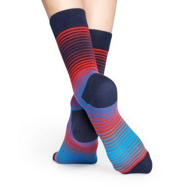 Modro-červené ponožky Happy Socks, vzor Sunrise