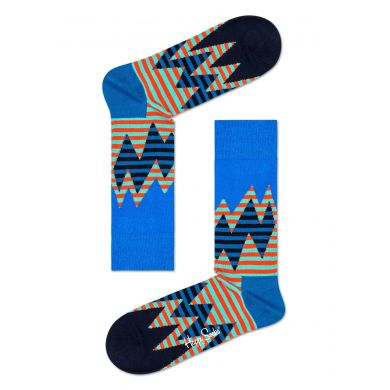 Modro-oranžové ponožky Happy Socks se vzorem Stripe Reef