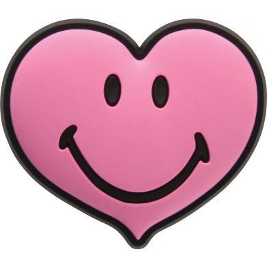 Odznáček Jibbitz - Smiley Brand Pink Heart