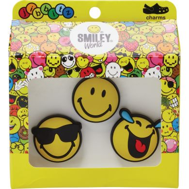 Odznáček Jibbitz - Smiley Brand Cool 3-Pack