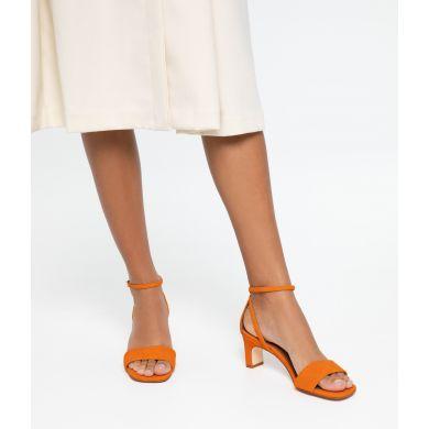 Dámské oranžové boty na podpatku Matt & Nat Elodie