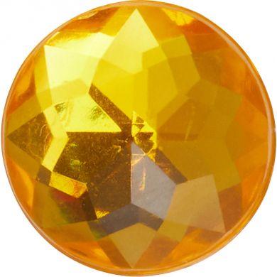 Odznáček Jibbitz - Sparkly Orange Circle