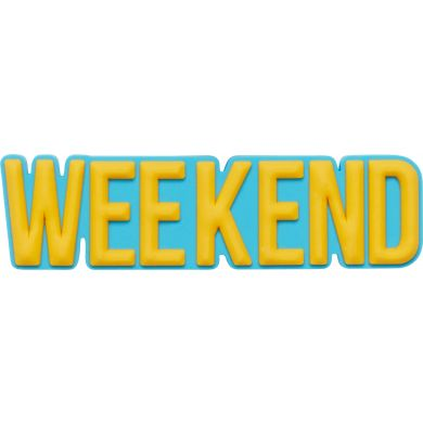 Odznáček Jibbitz - Weekend