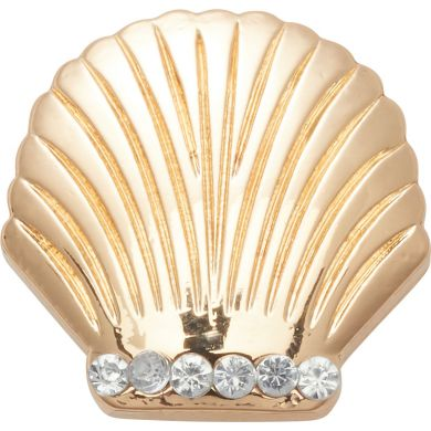 Odznáček Jibbitz - Gold Seashell