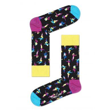 Modro-růžové ponožky Happy Socks x Tap Dance by Tomáš Slavíček, vzor Step Dance