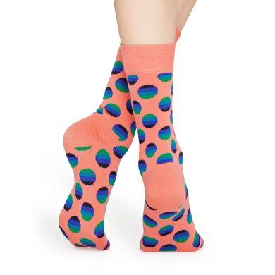 Oranžové ponožky Happy Socks, vzor Sunrise Dot