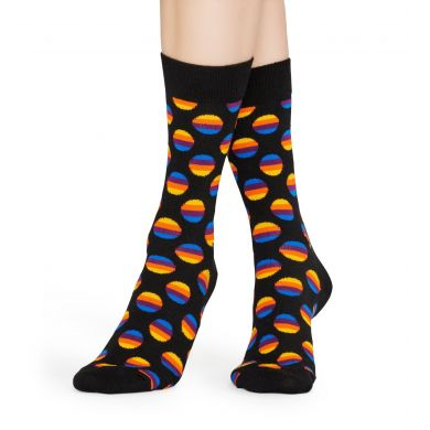 Černé ponožky Happy Socks, vzor Sunrise Dot