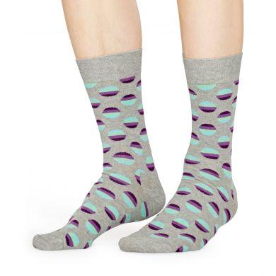 Šedé ponožky Happy Socks, vzor Sunrise Dot