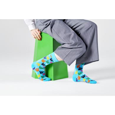 Černé ponožky Happy Socks se surfařským gestem Shaka, vzor Hang Loose