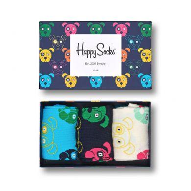 Dárkový box ponožek Happy Socks Mixed Dog - 3 páry