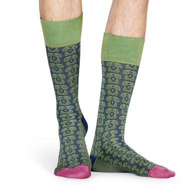 Zeleno-modré ponožky Happy Socks, vzor Telephone // KOLEKCE DRESSED