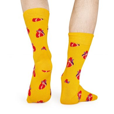 Žluté ponožky Happy Socks, vzor True Love