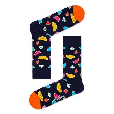Tmavě modré ponožky Happy Socks s melounem, vzor Watermelon