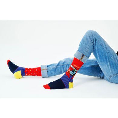 Barevné ponožky Happy Socks, vzor World´s Strongest Dad