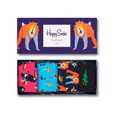 Dárkový box ponožek Happy Socks Animal - 4 páry