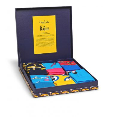 Dárkový box ponožek Happy Socks x The Beatles - 6 párů