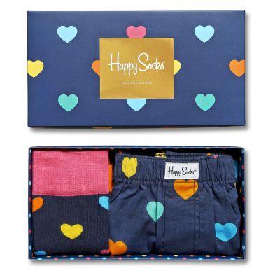Dárkový box ponožek a trenýrek Happy Socks Valentine - 2 páry