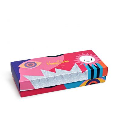 Dárkový box ponožek Happy Socks Psychedelic - 4 páry