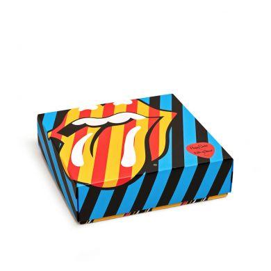 Dárkový box ponožek Happy Socks x Rolling Stones - 3 páry