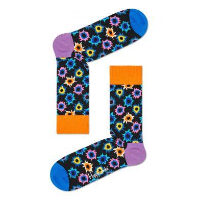 Černé ponožky Happy Socks s barevným vzorem Bang