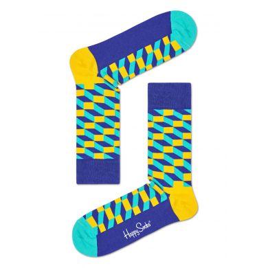 Modré ponožky Happy Socks s barevným vzorem Filled Optic