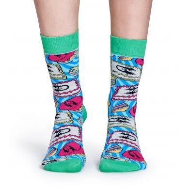 Barevné ponožky Happy Socks se vzorem Cake X Steve Aoki