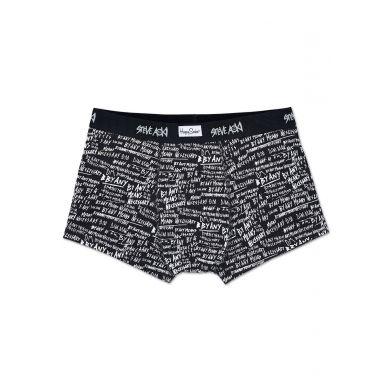 Černé boxerky Happy Socks s bílým vzorem By Any Means x Steve Aoki