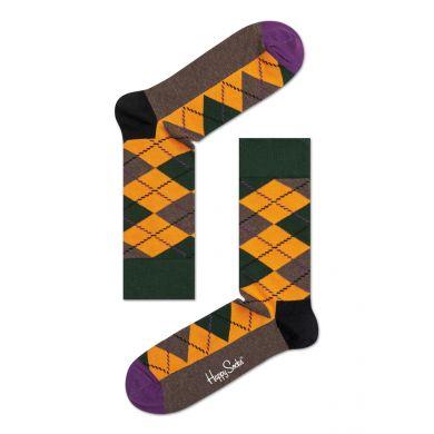 Barevné ponožky Happy Socks s károvaným vzorem Argyle