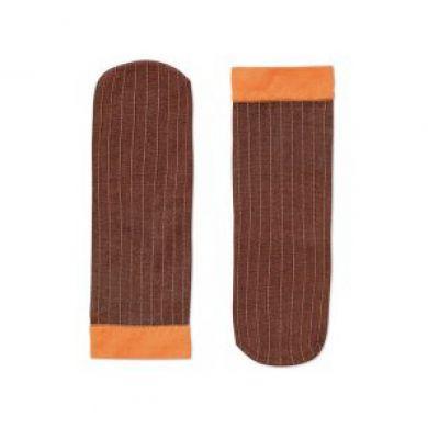 Oranžové ponožky Happy Socks Ancle