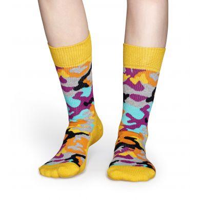 Barevné ponožky Happy Socks s maskáčovým vzorem Bark // kolekce Athletic