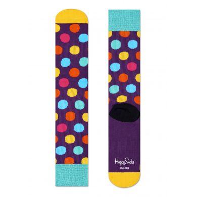 Fialové ponožky Happy Socks s barevnými puntíky, vzor Big Dot // kolekce Athletic