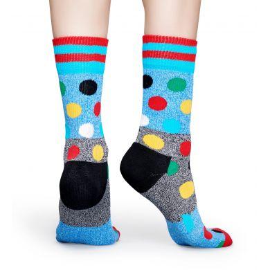 Světle modré ponožky Happy Socks s barevnými puntíky, vzor Big Dot // kolekce Athletic