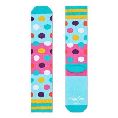 Růžovo-modré ponožky Happy Socks se vzorem Flag // kolekce Athletic