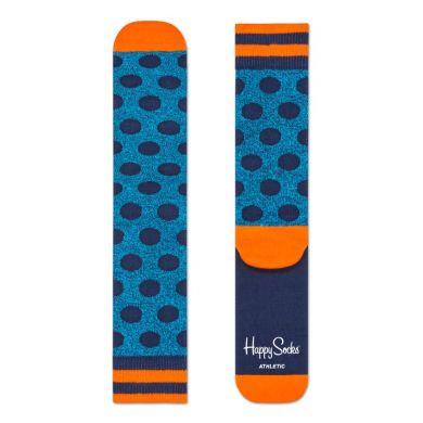 Barevné ponožky Happy Socks s modrými puntíky, vzor Big Dot // kolekce Athletic