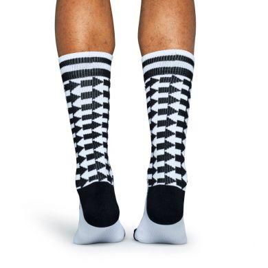 Černobílé ponožky Happy Socks se šipkami, vzor Direction  // kolekce Athletic