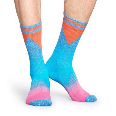 Tyrkysové ponožky Happy Socks s barevným vzorem Eighties // kolekce Athletic