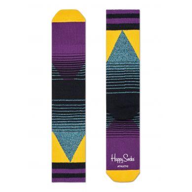 Šedé ponožky Happy Socks s barevným vzorem Eighties // kolekce Athletic
