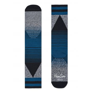 Šedo-černé ponožky Happy Socks s barevným vzorem Eighties // kolekce Athletic