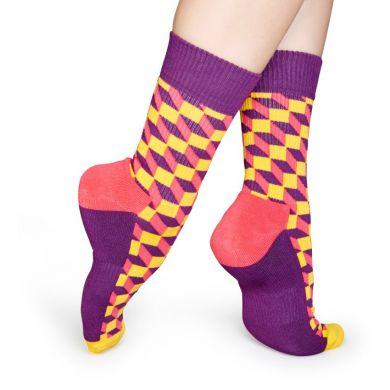 Barevné ponožky Happy Socks se vzorem Filled Optic // kolekce Athletic