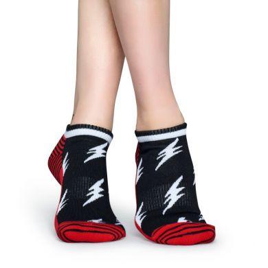 Nízké barevné ponožky Happy Socks s blesky, vzor Flash // kolekce Athletic