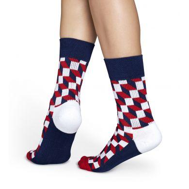 Barevné ponožky Happy Socks s vzorem Filled Optic // kolekce Athletic