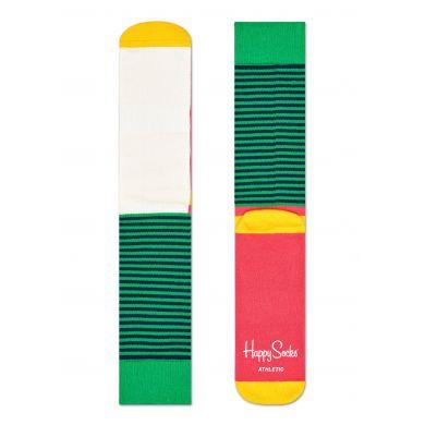 Barevné ponožky Happy Socks s proužky, vzor Half Stripe // kolekce Athletic