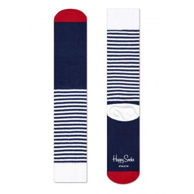 Barevné pruhované ponožky Happy Socks, vzor Half Stripe // Kolekce Athletic