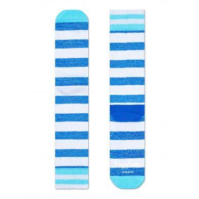 Modro-bílé pruhované ponožky Happy Socks, vzor Stripe // kolekce Athletic
